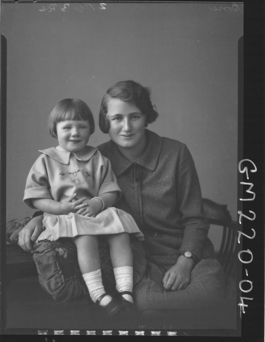 Portrait of woman and child 'Bone'