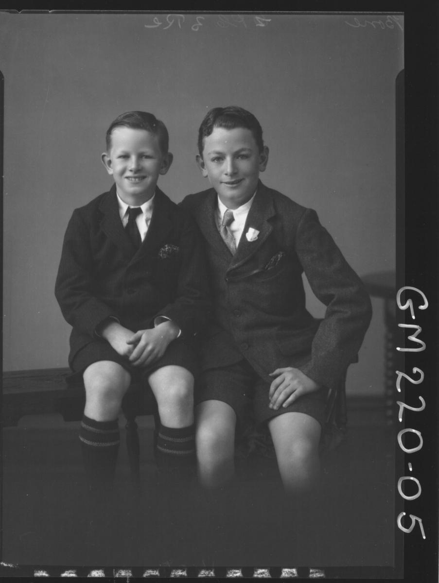 Portrait of two boys 'Bone'