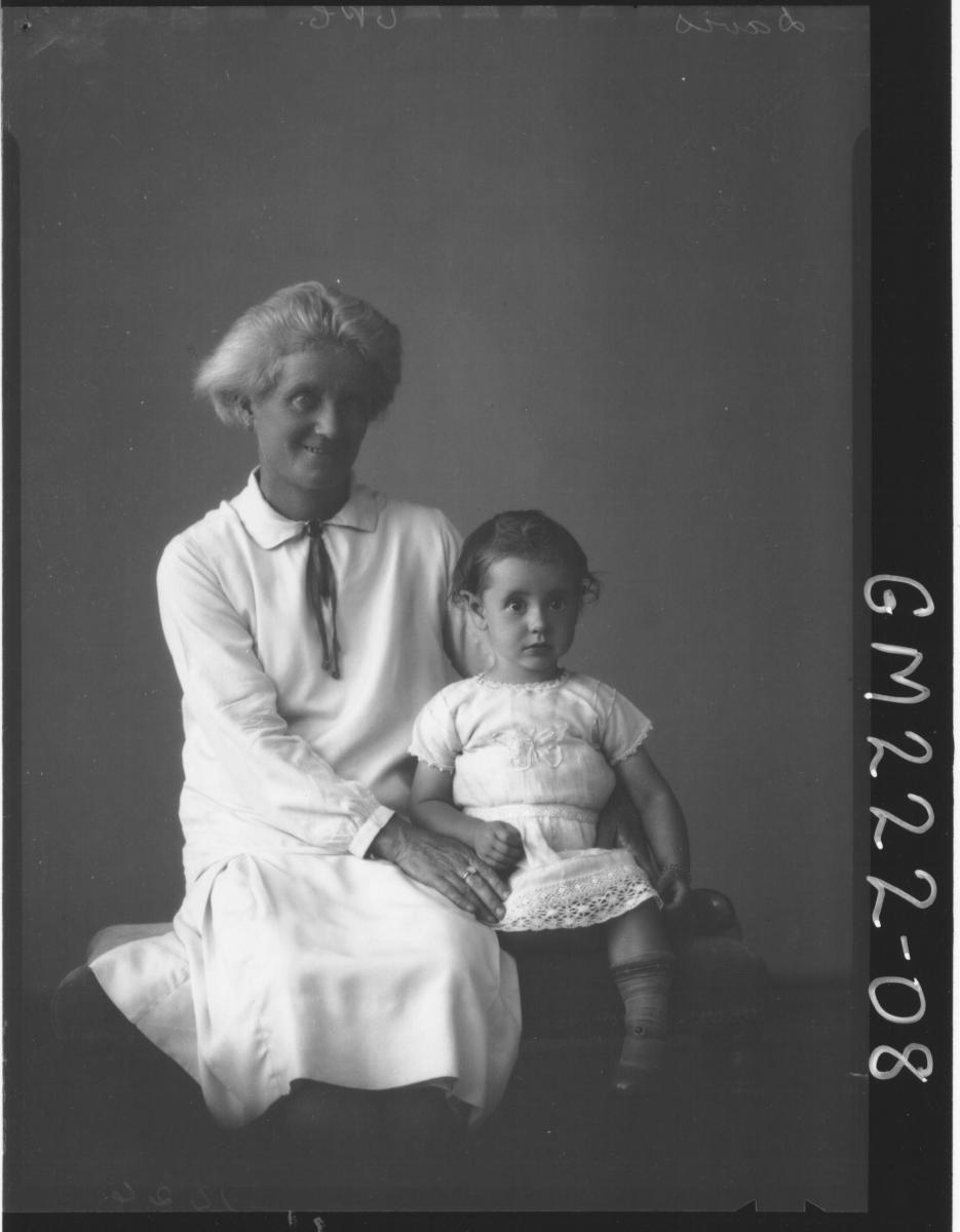Portrait of woman and baby 'Davis'