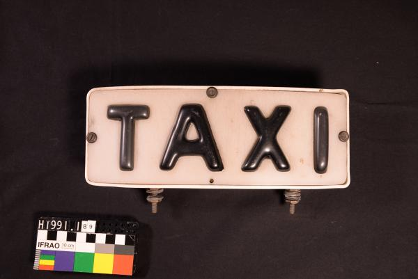Taxi plates