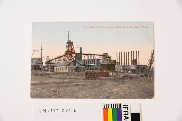 Postcard-Great Boulder Perseverance Gold Mine