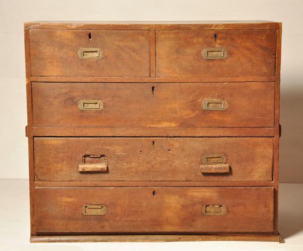 SEA CHEST, campaign chest, teak wood