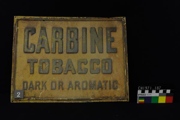 """CARBINE"" TOBACCO SIGN"