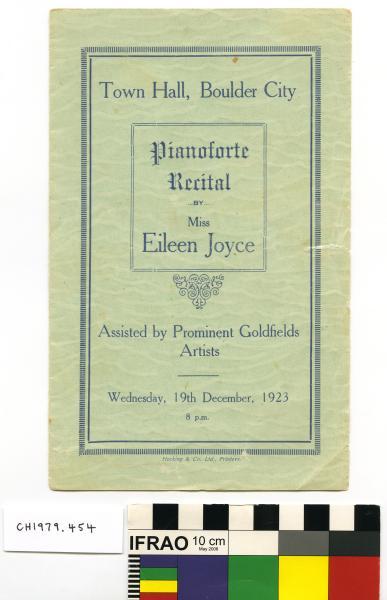 PROGRAMME, Pianoforte Recital