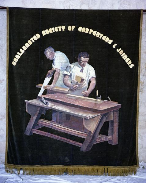 BANNER, Trade Union, 'AMALGAMATED SOCIETY OF CARPENTERS AND JOINERS'