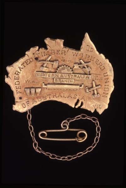 BADGE, gold, Timber Union, c1908