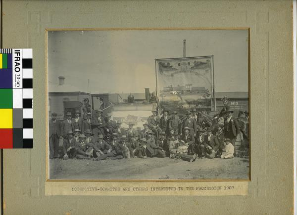 "PHOTOGRAPH, ""Locomotive Committee and others interested in the Procession 1903"""