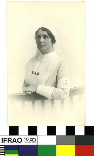POSTCARD, V.A.D. Nurse