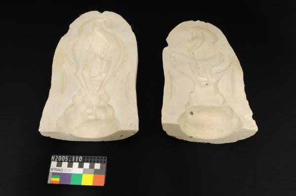 MOULD, plaster, for stylised Horse and Rider
