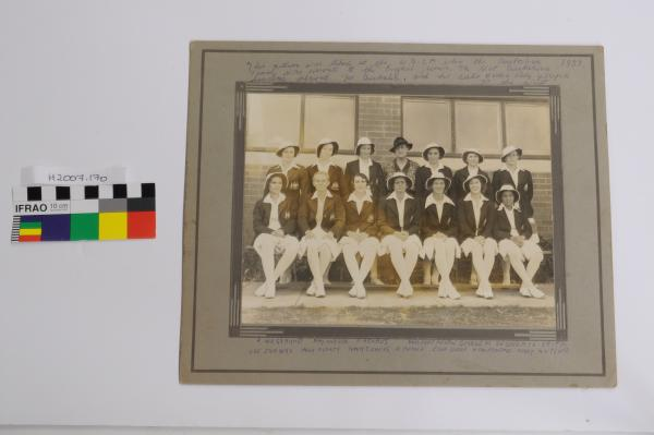 PHOTOGRAPH, Official (?), black & white, mounted, Australian Women's Cricket Team, 1937