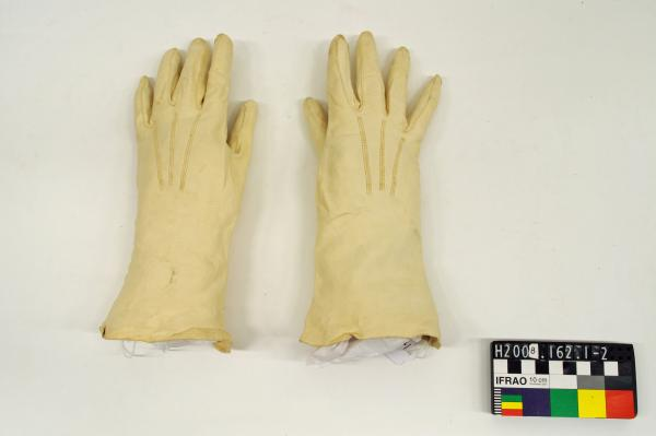 GLOVES, day, cream, kid leather