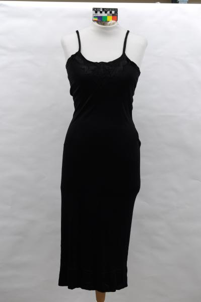 SLIP, black, knit, art deco