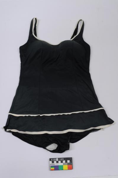 BATHING COSTUME, women's, black & white 'Watersun'
