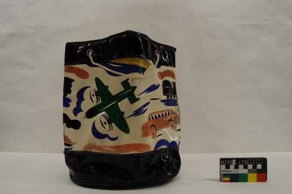 BEACH BAG, plastic, transport motifs