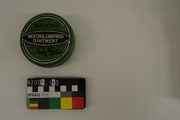 TIN, 'WATKINS/ MENTHOL CAMPHOR/ OINTMENT', large, '95c'