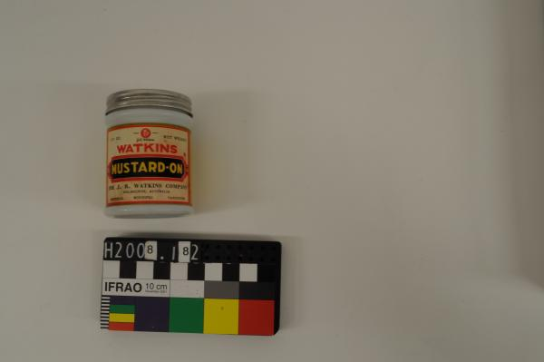 JAR, 'WATKINS/ MUSTARD-ON', tin lid