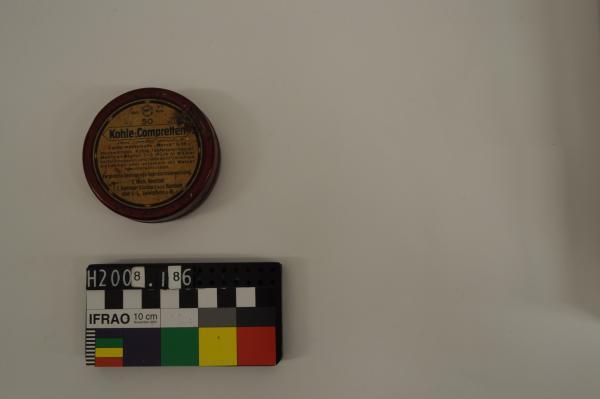 TIN, charcoal tablets, 'Kohle-Compretten'