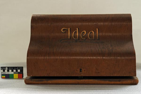 TYPEWRITER, 'IDEAL', wooden cover
