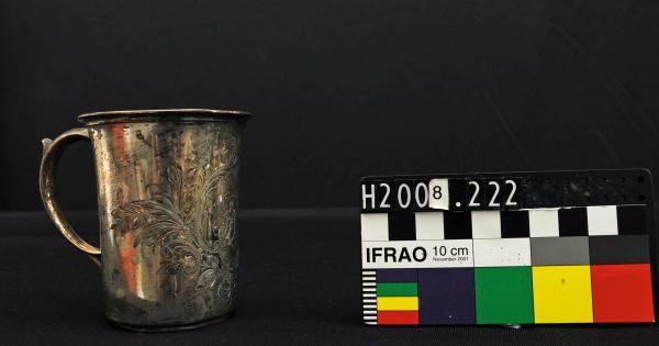 KIDDUSH CUP, EPNS, 'LF' engraved