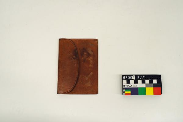 WALLET, leather, raised relief portrait