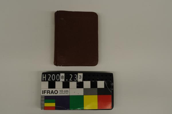 NOTEBOOK, small, brown, ring bound