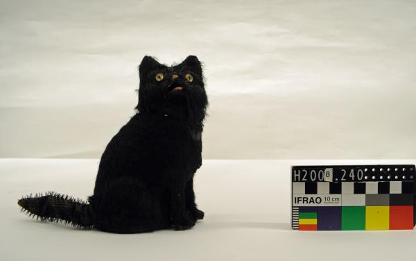 TOY, cat, automata, black fur