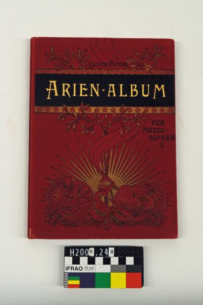 MUSIC BOOK, 'ARIEN-ALBUM/…', red cover