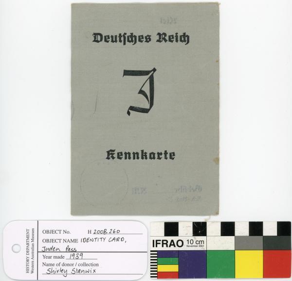 IDENTITY CARD, Juden Pass