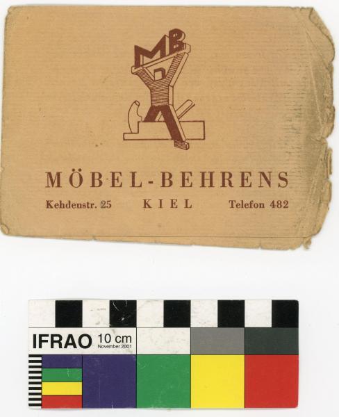 QUOTATION, 'MÖBEL-BEHRENS/…', folded