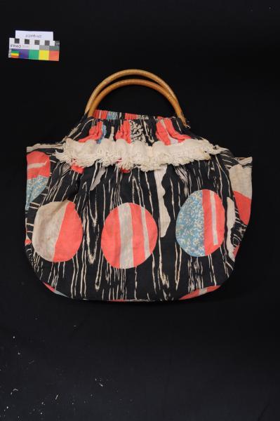 BAG, shopping, cotton, cane handles, 1954-55