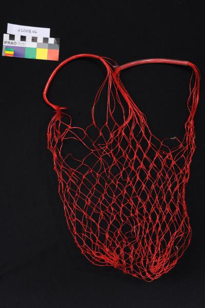 BAG, shopping, string, red plastic