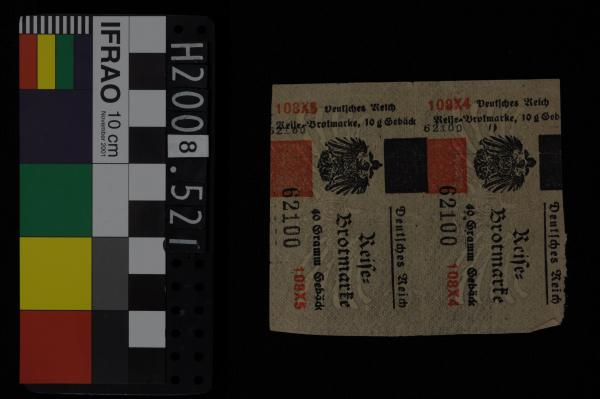 BREAD RATION TICKET, travelling