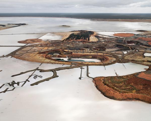 PRINT, photographic, 'Silver Lake Operations #3, Lake Lefroy, Western Australia, 2007', Edward Burtynsky