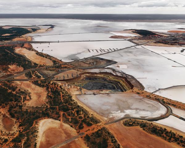 PRINT, photographic, 'Silver Lake Operations #4, Lake Lefroy, Western Australia, 2007', Edward Burtynsky