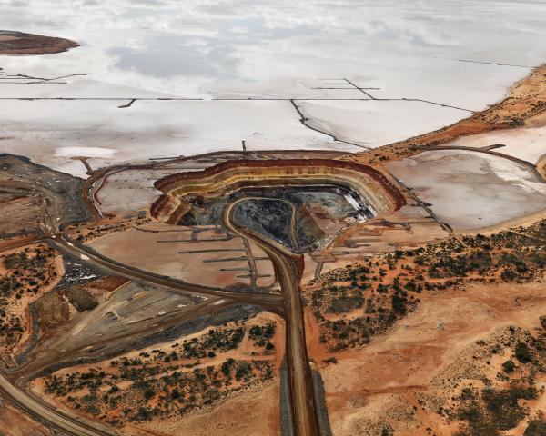 PRINT, photographic, 'Silver Lake Operations #5, Lake Lefroy, Western Australia, 2007', Edward Burtynsky