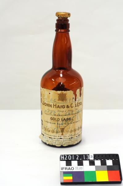 BOTTLE OF SCOTCH WHISKEY, 'JOHN HAIG & CO. LTD./…El Alamein'
