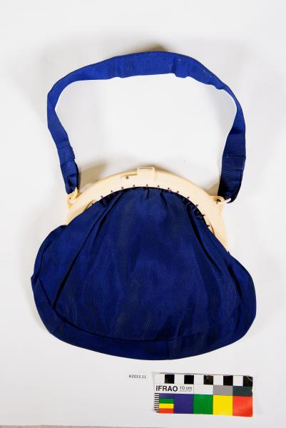 BAG, with mirror, H.E. Anderson, early 20thC
