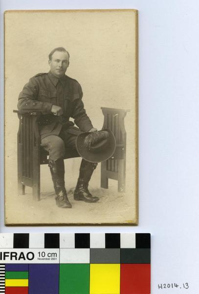 PHOTOGRAPH, b&w, mounted, studio portrait, WW1, A.I.F., Edward Henson Broadhurst, Lafayette Studios, Perth, W.A., c1916