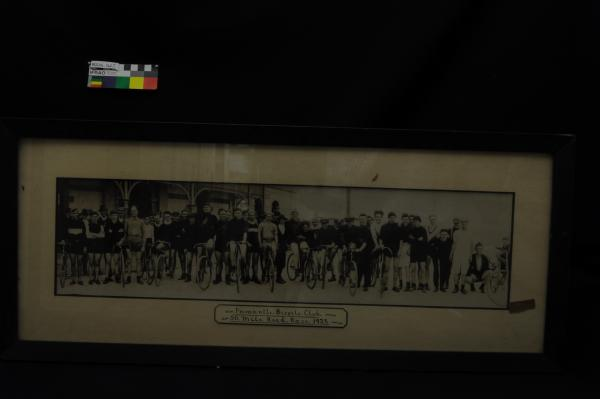 PHOTOGRAPH, cycling, framed, b&w, Fremantle Bicycle Club, 50 Mile Road Race, 1923