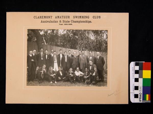 PHOTOGRAPH, b&w, 'CLAREMONT AMATEUR SWIMMING CLUB, 1919-1920'