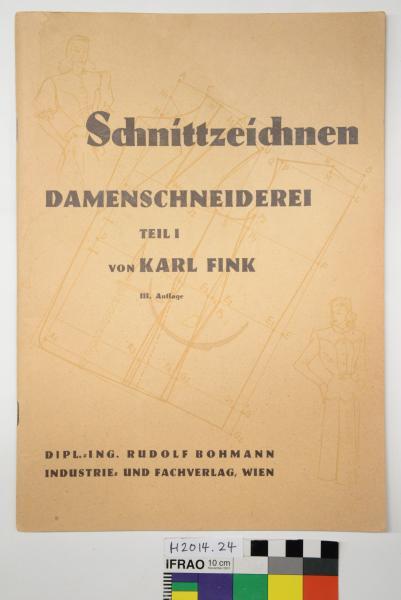 PATTERN BOOK, Tailoring, Author Karl Fink 1953 in German language