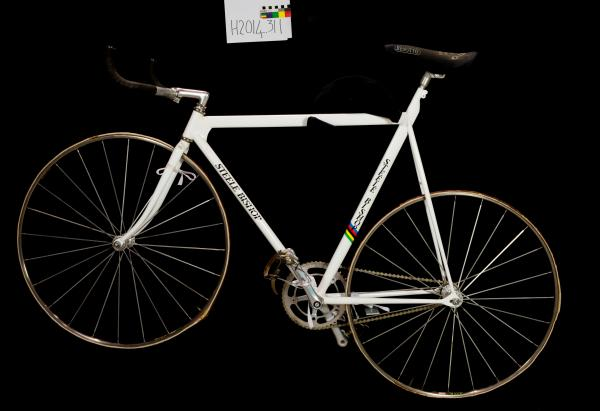 BICYCLE, track, pursuit, Malvern Star, rainbow striped, Steele Bishop, 1983