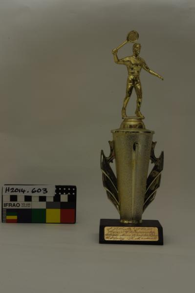 TROPHY, tennis, men's doubles, B.R. Wasley & H. Mammatt, 1984-85