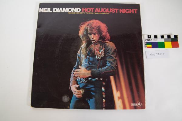 RECORD, gatefold LP, Neil Diamond, 'Hot August Night', live double album