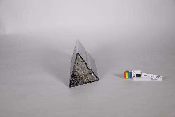 TROPHY, silver, metal, triangle prism, 'ADVANCE AUSTRALIA AWARD/ AUSTRALIA II'