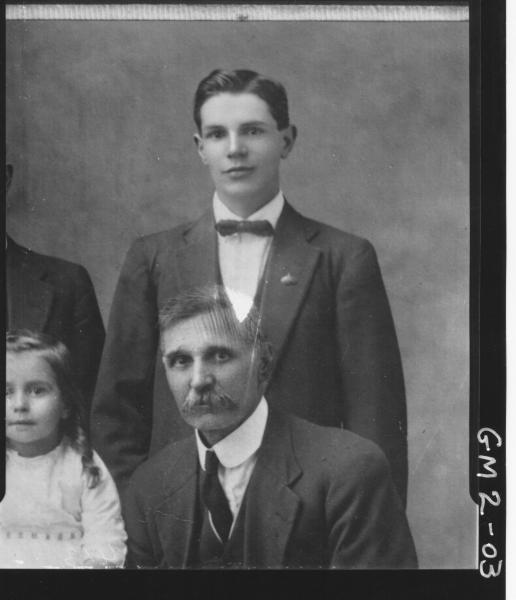 Part copy of family portrait, men in suits, H/S, Mrs.'O'Brien'.