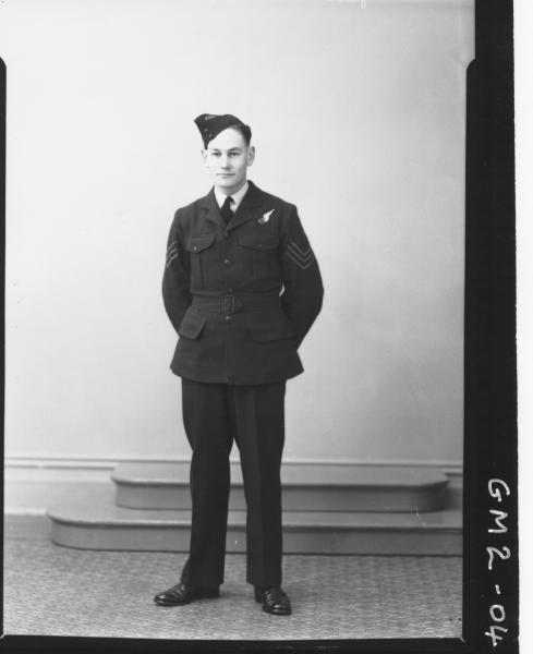 Portrait of man in airforce uniform, F/L,'James'.