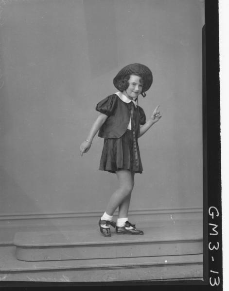 Portrait of girl in dance costume, F/L, 'Jerrard'/'Jerard?'
