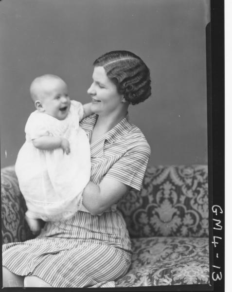 Portrait of woman and baby, H/S Knop.
