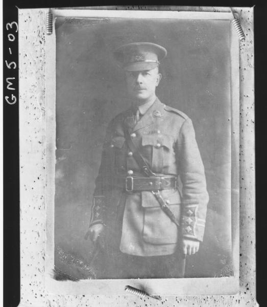 Board pinned copy jof portrait of army captain in uniform, Mrs Low.